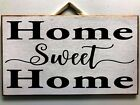 Home Sweet Home sign wood farmhouse style 7 x 11 inches wall decor housewarming