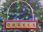 Atlanta Braves Christmas Ornament Scrabble Tiles Magnet on Ebay