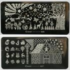PIASTRA per unghie NAIL ART NATALE XMAS NOEL WEIHNACHT MANICURE stamping PLATE