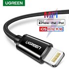 UGREEN Apple MFI Lightning Cable Fast Charging Data Lead For iPhone 8 X 7 6 iPad