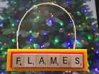 Calgary Flames Christmas Ornament Scrabble Tiles Magnet $8.99 USD on eBay