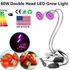 60W LED Grow light Double-Head Full Spectrum For Hydroponic Grow/Bloom Flowering