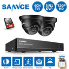 SANNCE 4CH 1080P HDMI DVR 2x 720P Night Vision Security Came
