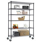 "4/5/6 Tier Heavy Duty 82""x48""x18"" Wire Shelving Rack Steel Shelf Adjustable"