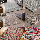MODERN 100% WOOL RUGS INDIAN ORIENTAL WEAVER DURABLE CHUNKY HAND WOVEN FLOOR RUG