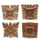 Внешний вид - Wood Flower Carving Natural Wooden Applique Decorations For Home Furniture Walls