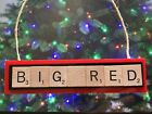 BIG RED Arizona Cardinals Christmas Ornament Scrabble Magnet Rear View Mirror on eBay