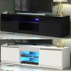 Fashion TV Unit Cabinet Stand Sideboard Matt body and High Gloss Doors LED Light