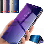 New Clear Flip Mirror Cover Smart View Leather Stand Case For OPPO F7 F5 R11 A83