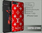 HOT RARE !! Red Louis Vuitton90US hard case cover for iPhone X 8 7 6 5 s +