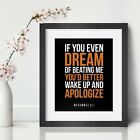 Muhammad Ali Inspirational Wall Art Print Motivational Quote Poster Decor Gift