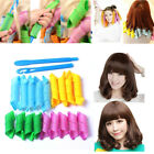 DIY 18pcs Hair Rollers Styling Snail Rolls Curler Tool Natural Way Curls Curling