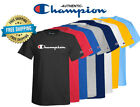 Champion Mens Classic Jersey Script Logo T-Shirt---Brand New---Various Sizes image