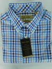 NWT Gold Label Roundtree & Yorke LS Blue Check Men's Shirt Big & Tall ($79.50)