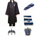 Harry Potter Ravenclaw Robe Cloak + Tie+ Scarf +Necklace + Badge  Set COSPLAY