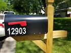 "Lot of 2 REFLECTIVE 1.5"" 2"" 2.5"" 3"" Mailbox Custom NUMBERS D"