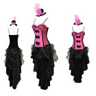 Saloon Girl Fancy Dress Costume Burlesque Outfit Can Show Hen Party dress SMLXL