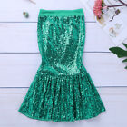 Girls Shiny Mermaid Tail Halloween Costume Toddler Fancy Skirt Dress Outfits