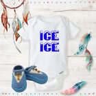 Ice Ice 90s Vanilla Onsies & Blue Bow Tie Shoes Best Baby Sh