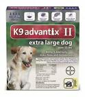 Bayer Animal Health NEW K9 Advantix II Extra Large XL Dog 4 Pack/MONTH for...