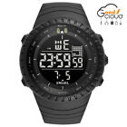 Men Military Sports Wrist Watch Multifuction Stainless Steel Analog Digital Date
