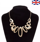 Statement Necklace Chunky Silver Gold Ladies Fashion Jewellery Costume Chain Uk!
