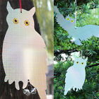 1Xfake owl bird scare repellent reflective hanging device with tinkling bell HI