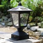 Solar Powered Post Cap Light for Nominal Wood Posts Pathway, Deck Light,Fence Li