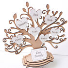 Personalised Wooden Family Tree Freestanding Gift Decoration 3DTree & Hearts