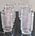 Clear Drinking Glasses  Pepple Ribbed Glassware Drink Glasses Set Of 6