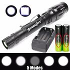 90000LM T6 LED Flashlight Rechargeable Zoomable Torch+18650 Battery&Dual Charger