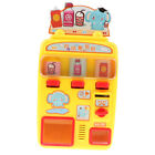 Plastic Simulation Vending Machine Pretend Role Play Toy for Kids - Yellow