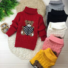 Kids Girl Winter Coat Knite Sweater Baby Knitwear Pullover Tops Sleeve Clothes