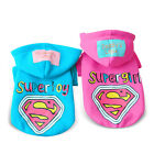 Superman Dog Hoodie Costume Small Cat Coat Sweater Warm Chihuahua Pet Clothing