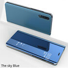For Huawei P20 Pro P10 P9 Lite 2017 P Smart 2019 Leather Mirror Flip Case Cover