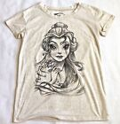 Beuty And The Beast Belle Womens szXS T Shirt Sketch Drawing Disney Princess