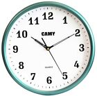 Camy 11.5 Inch Round Wall Clock Quality Quartz Battery Operated/Home Decor