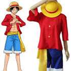 Halloween One Piece Monkey D Luffy 2nd Version Cosplay Costume Uniform With Hat