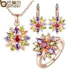 BAMOER  Rose Gold Color Jewelry Sets for Women with High Qua