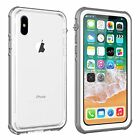 Clear For Apple iPhone X Waterproof Case Cover works with Wireless Charging