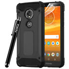 Heavy Duty Rugged Armor Hybrid ShockProof Case For Moto E5 / E5 Play / G6 Play <br/> Case Comes With Free Screen Protector and Touch Stylus