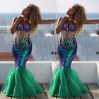 Sexy Mermaid Ladies Halloween Costume Fancy Party Sequins Ma