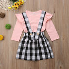 2PCS Toddler Kids Baby Girl Dress Outfits Tops Shirt Bow Short Skirt Clothes Set <br/> ❤Uk STOCK ❤FAST DELIVERY ❤EASY RETURN❤High Quality