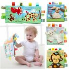Cute Baby Cartoon Animal Style Soft Cloth Book Early Educational Games Toy Gifts