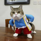 Funny Pet Cat Dog Clothes Japan Samurai Uniform Cosplay Costume Fancy Dress /A1