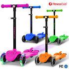 Height Adjustable Kids Kick Scooter 3 Wheels Outdoor Sports W/LED+ booster+Music