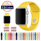 US Silicone Sport Replacement Band Strap For Apple Watch Series 3 2 1 38mm/42mm image