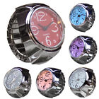 Couple Quartz Analog Watch Stainless Steel Lady Finger Ring Watch Accessories