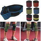 Sports Elastic Knee Wraps Men's Weight Lifting Bandage Straps Guard Pads YL on eBay