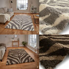 New Modern 5cm Shaggy High Density Rug Thick Zebra Design Portofino Think Rug